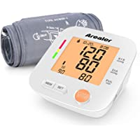 Arealer Automatic Blood Pressure Monitor Large Cuff Digital Bp Cuff with Blood Pressure and Pulse Rate