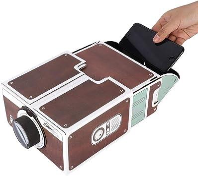 Opinión sobre Sutinna Bricolaje HD Teléfono Pantalla Lupa Proyector, Teléfono Celular Video Proyector Amplificador ampliado Soporte de Soporte móvil, Proyector portátil Inteligente para teléfono móvil Home Cinema
