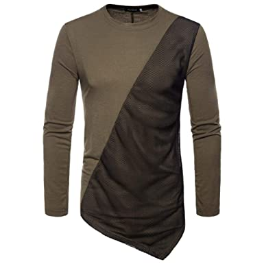 longzjhd Mode Herren Herbst Joint Lange Federärmelig Sweatshirts Oben Bluse  T-Shirt Modernes Sweatshirt Stehkragen 9519243414
