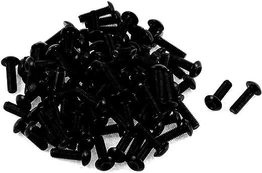 uxcell M3x10mm Thread Button Head Hex Socket Cap Screw Bolt 100pcs a15120300ux0233