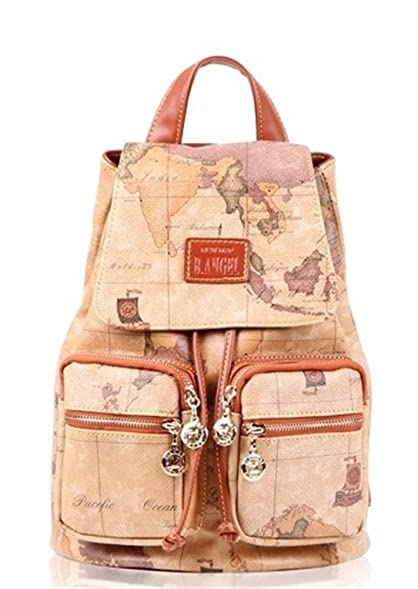 Amazon faux leather vintage novelty world map backpack faux leather vintage novelty world map backpack travel lacing bag hot 05 gumiabroncs Gallery