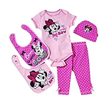b4bab40ecc48 Amazon.com  Disney Minnie Mouse 5-piece Layette Gift Set (0-6 Months ...