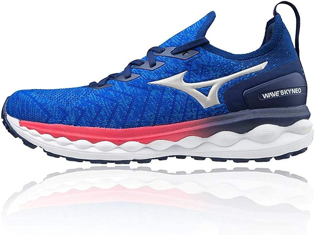 Mizuno Wave Sky Neo, Zapatillas para Correr de Carretera para Hombre, Reflexbluec/Silver/Pink, 41 EU: Amazon.es: Zapatos y complementos