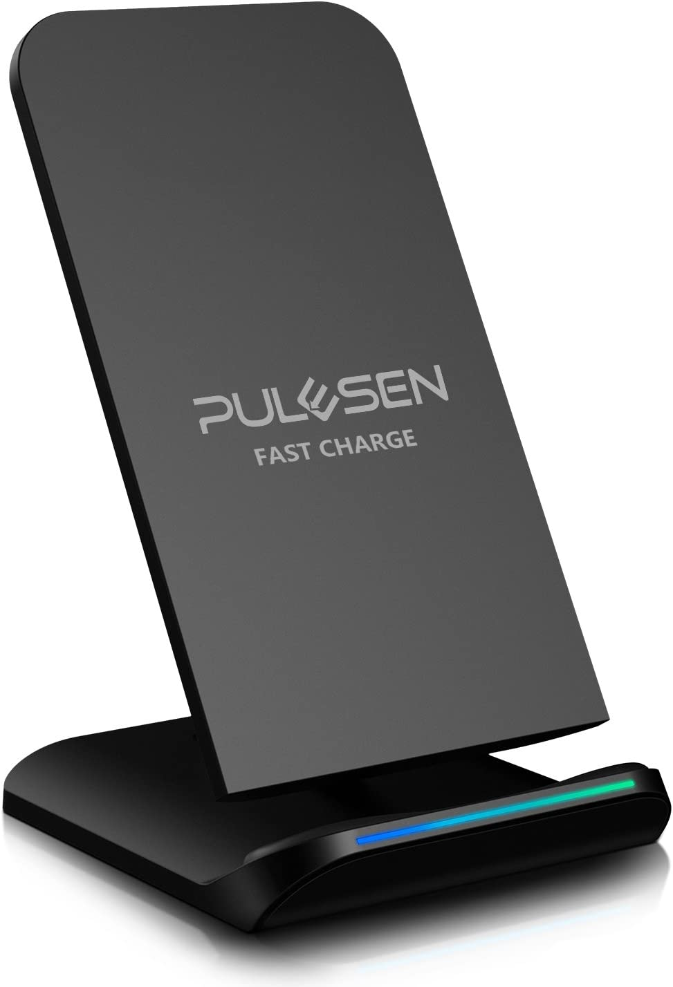 PULESEN Fast Wireless Charger, Qi Certified Wireless Charging Stand 10W Fast Charge for Samsung Galaxy S9 S9 Plus Note 8 S8 S8 Plus S7 S7 Edge S6 Edge