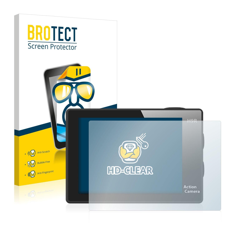 Transparente BROTECT Protector Pantalla Compatible con Eken H9R 2 Unidades