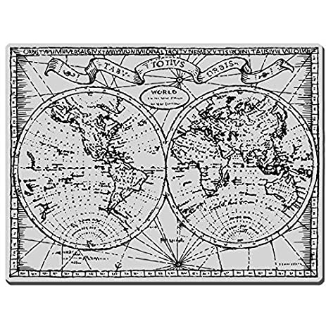 Amazoncom Stampendous Cling Rubber Stamp Old World Map Image - Old world map black and white