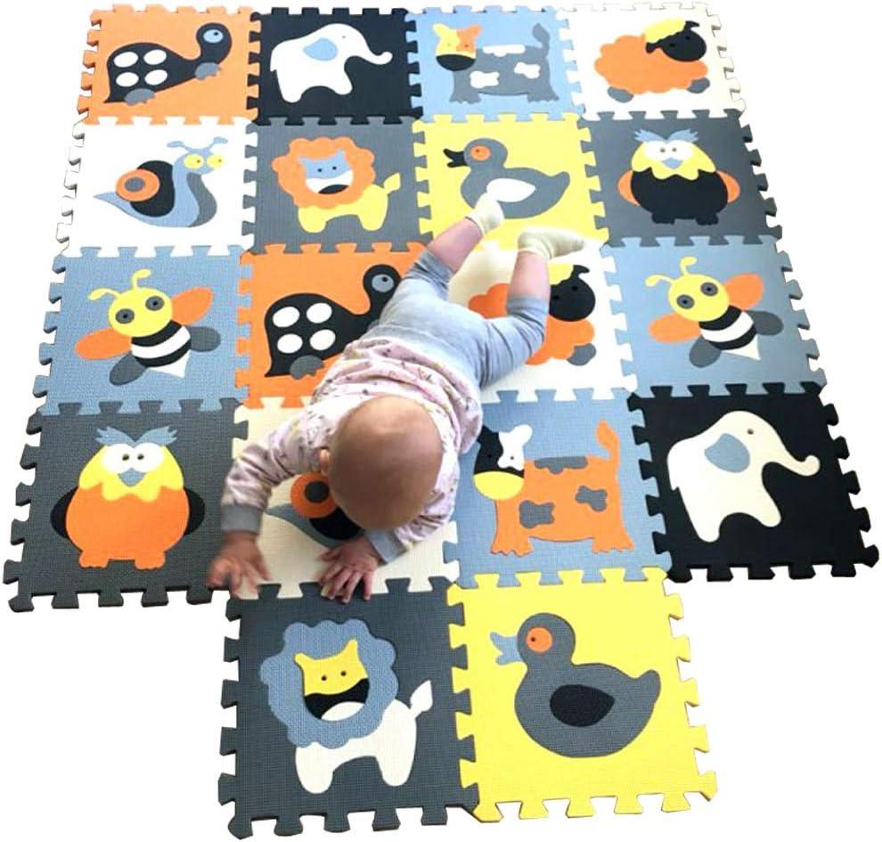 MQIAOHAM puzzle alfombrillas skip hop juego parques infantiles bebes acolchado manta tapete zona alfombras acolchadas grande goma eva P011011G3212