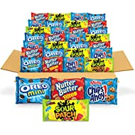 OREO Mini Cookies, CHIPS AHOY! Mini Cookies, SOUR PATCH KIDS Candy & Nutter Butter Bites Cookies & Candy Variety Pack, 32 Snack Packs