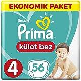 Prima Külot Bebek Bezi 4 Beden Maxi Ekonomik Paket 56 Adet