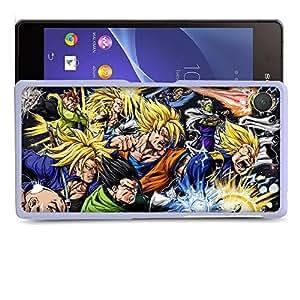 Case88 Designs Dragon Ball Z GT AF Super Saiyan Goku Gohan Trunks Vegeta Protective Snap-on Hard Back Case Cover for Sony Xperia Z2