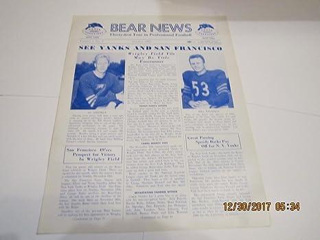 October 1950 Chicago Bears Bear News newsletter Ed Sprinkle