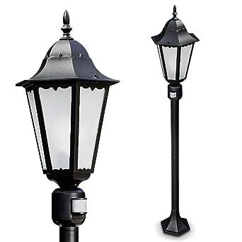 Garden Post Lamp Hongkong Frost With Motion Sensor Outdoor