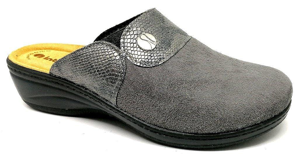 Inblu pantofole ciabatte invernali da donna art. LY-32 grigio  -