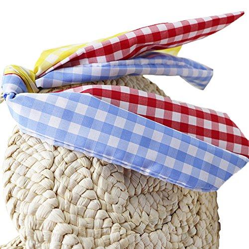 Summer Handbag Bag Crossbody Bag Outdoor Women's Purpose Woven Straw Shoulder Zip with Straw Travel Round Beach Dual Bag xqqgwPZY