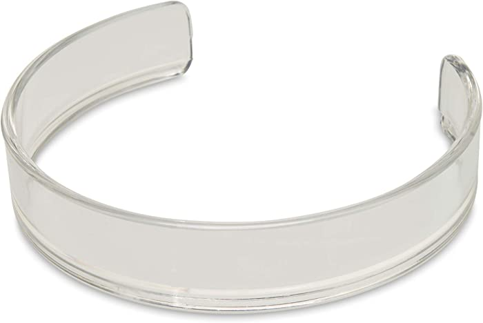 Mars Wellness Clear Food Plate Guard - Reusable Snap On Ring fits 6.25
