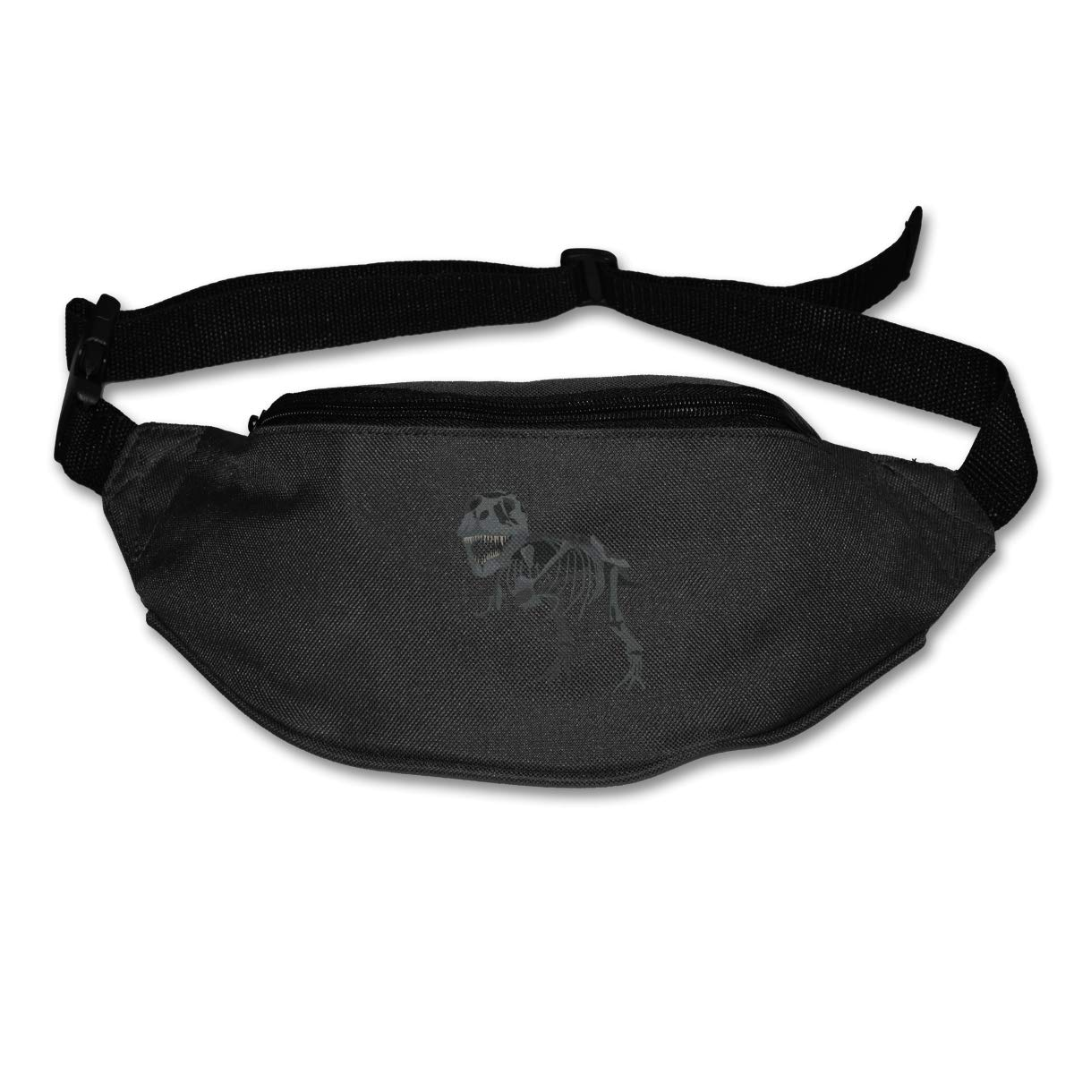 Grey Skeleton Dinosaur Sport Waist Pack Fanny Pack Adjustable For Travel