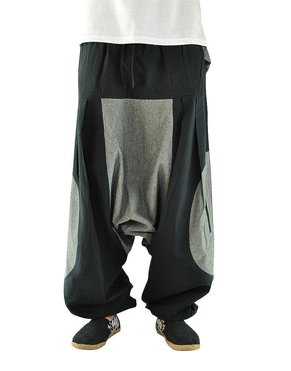 Elemente virblatt Pantaloni tasconi Laterali Punk Rave Pantaloni Goa Hippie Harem Pants Ragazza