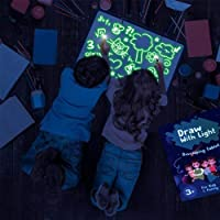 A4 Glow in The Dark Light Up Drawing Board Draw Sketchpad Board Kids Toy Gift + Pen AU