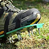 TIMESETL Lawn Aerator Shoes, 9 Adjustable Straps