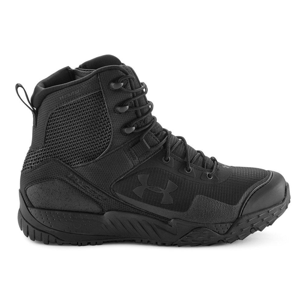 Under Armour Men's Valsetz RTS Side Zip Tactical Boots, Black (001)/Black, 10.5