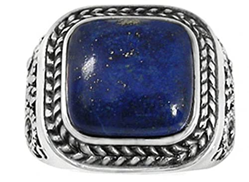 BillyTheTree Gemstone Jewelry Sterling Silver Ring with Lapis Lazuli BTS-NRB5090 LP
