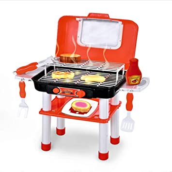 Amazon.com: Kaizen Barbeque Cooking Toy Grill Play Set Kids ...