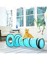 Pawise Cat Toys Cat Tunnel und Katze Cube Pop up Faltbare Kätzchen Indoor Outdoor Spielzeug