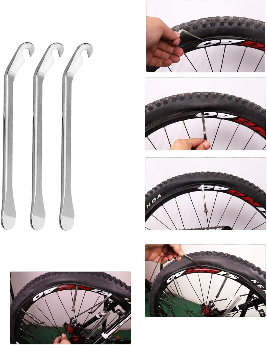 Reliable Compact and Light Presta and Schrader Valve Fast Changing for Road Mountain Bikes CNC Process 120 PSI Bicycle Hand Pump Mini Bike Pump with Bike Tire Repair Kit
