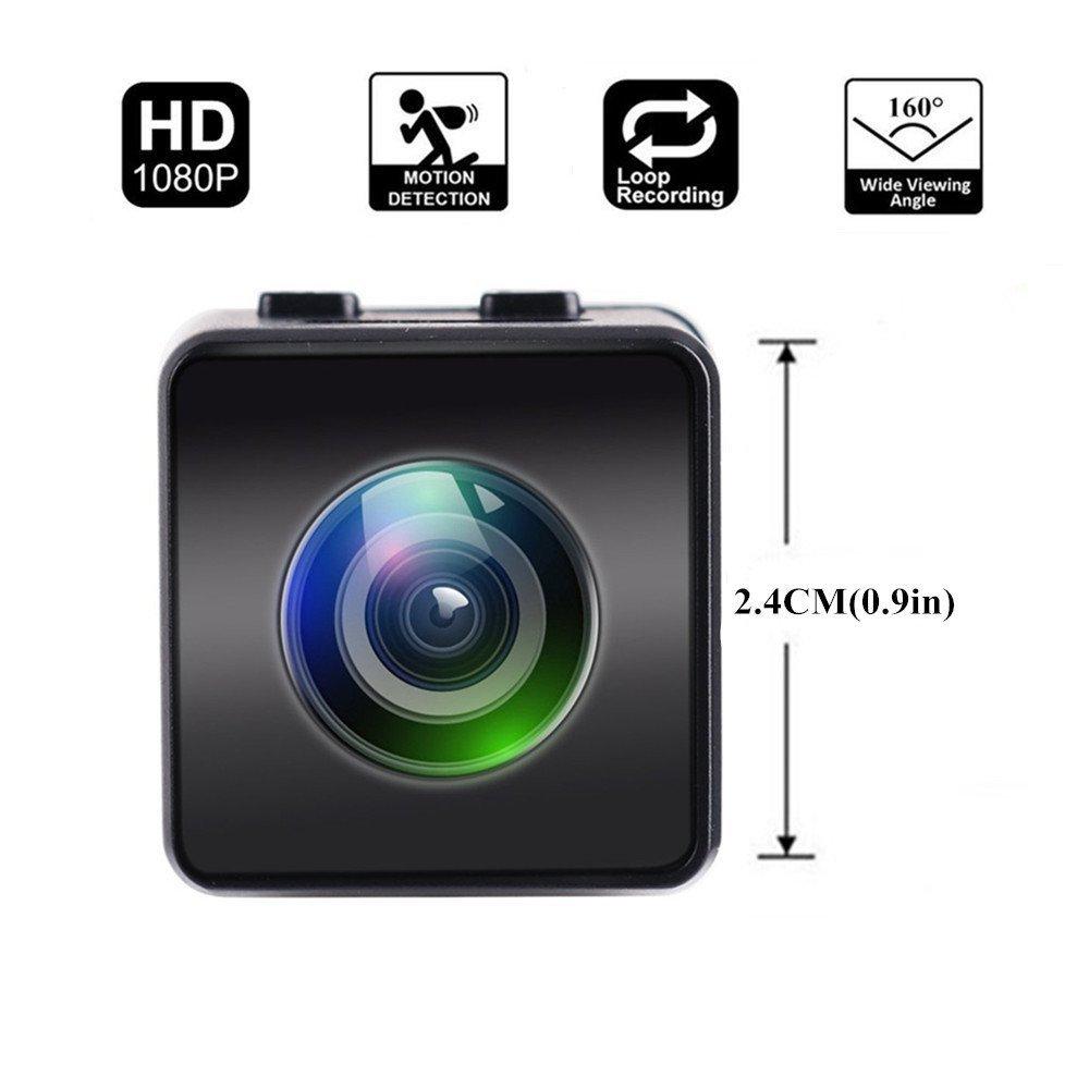 Mini Cámara Hawkeye Firefly HD 1080P FPV Micro Cámara de acción Mini cámara Oculta Spy con DVR FOV160 ° Micrófono Incorporado para RC Drone HankerMall