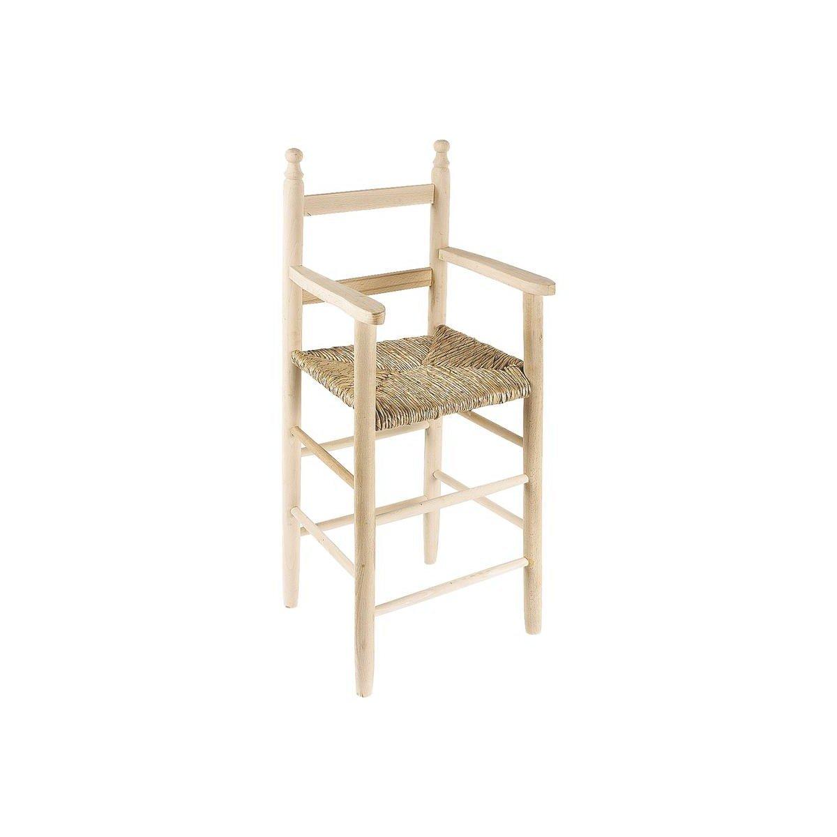 Silla alta para niños en madera de haya