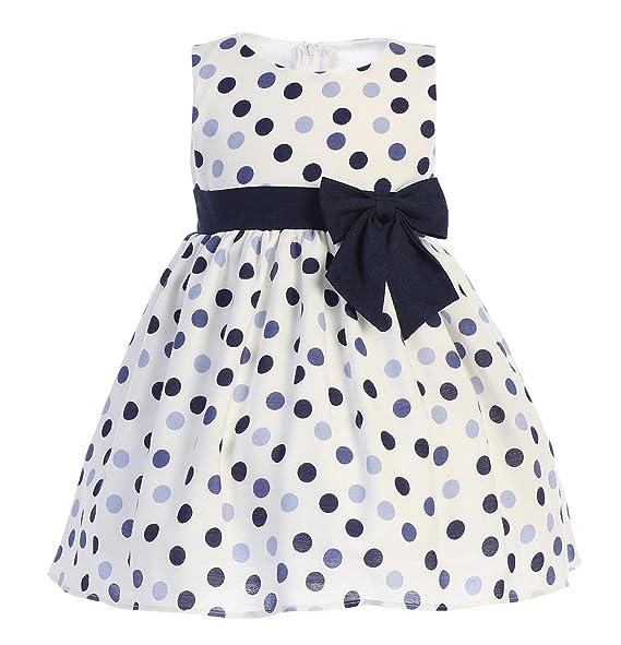 Amazon.com: Vestido de lunares de rayón con flor de ...