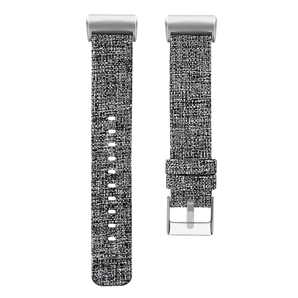 para Fitbit Charge 3 Pulsera de Repuesto Reemplazo de Suave Nylon Deporte Ajustable Banda Correa para la muñeca con Banda de Reloj de Tela Tejida de ...