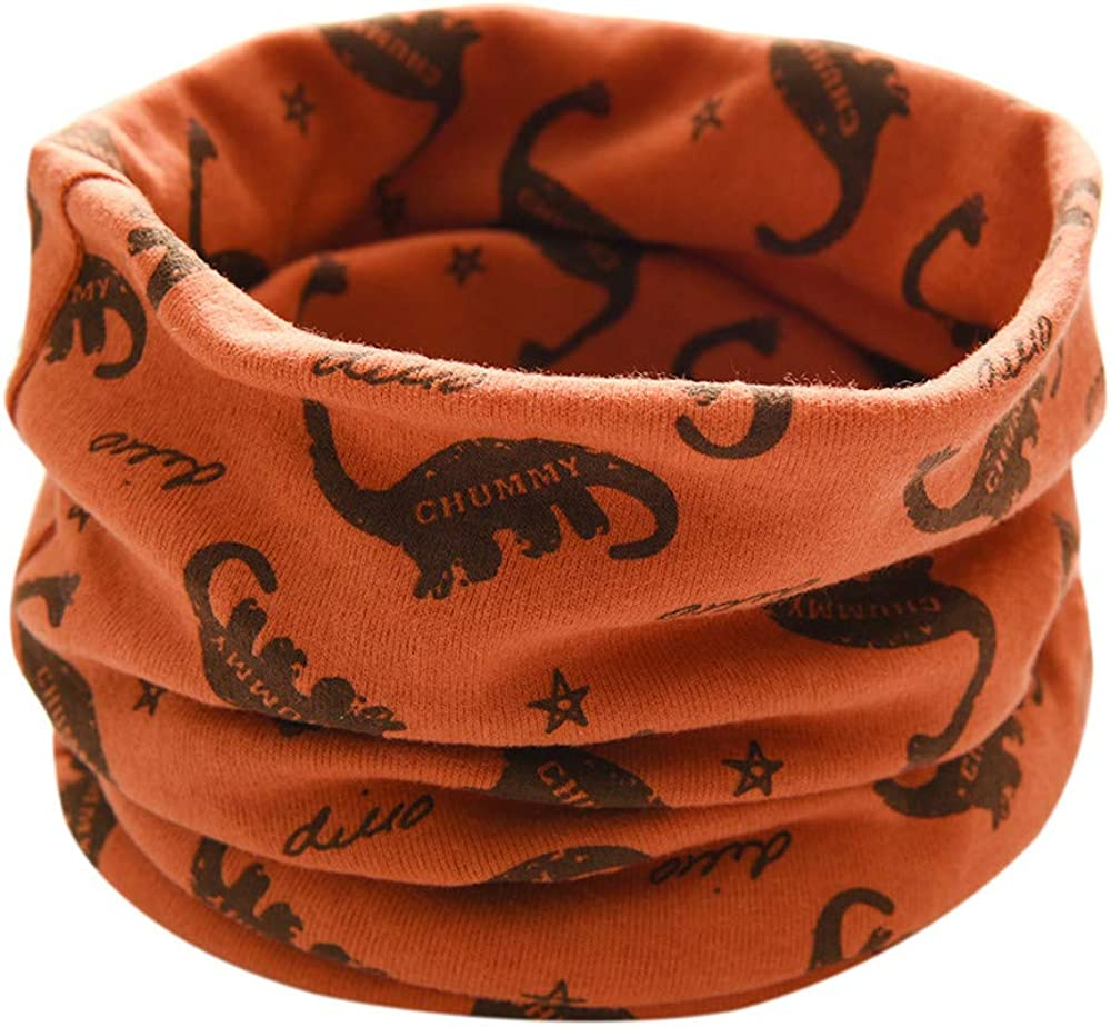 Toddler Warmer Cotton Neckerchief Fashion Tube Snood Infinity Loop Scarves for 0-3 Years Old Baby Cute O Ring Collar Neck Scarfs Kids Girls Boys Circle Scarves Shawl