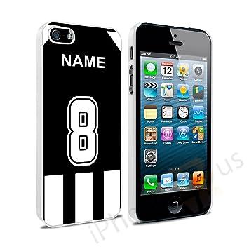 Juventus Colores Camiseta de fútbol Personalizada, Cualquier Nombre, Cualquier número Snap-on Hard Back Case Carcasa para Apple iPhone 5 y 5S se por iPhone ...