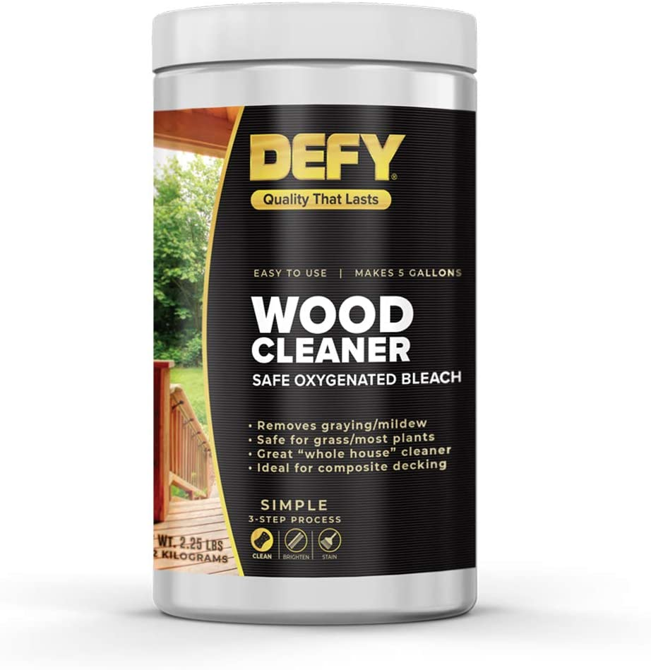 Best cleaner for hard surface: DEFY Wood Deck Cleaner – 2.25 LBs