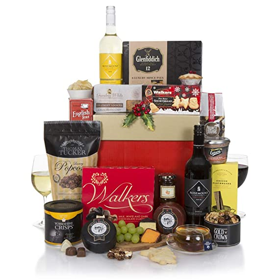 Christmas Hampers 2019.Festive Feast Christmas Hamper Cheese Wine Hamper 2019 Luxury Xmas Food Wine Hampers Christmas Gifts Range