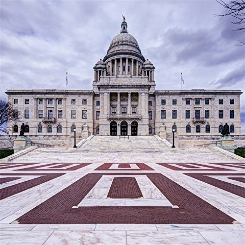 OFILA Rhode Island State House Backdrop 5x5ft Photography Background Building Brick Ground Travel Photos Interior Decoration Meeting Mall Adult Shoots School Activity Video Studio - Garden Palm Mall Beach