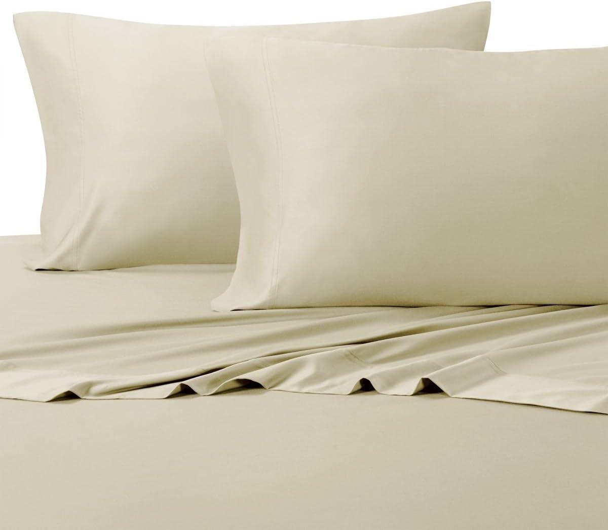Royal Hotel Suave como la Seda bambú algodón Juego de sábanas, 100% Bamboo-Cotton Ropa de Cama, tamaño de la Reina, Arena: Amazon.es: Hogar
