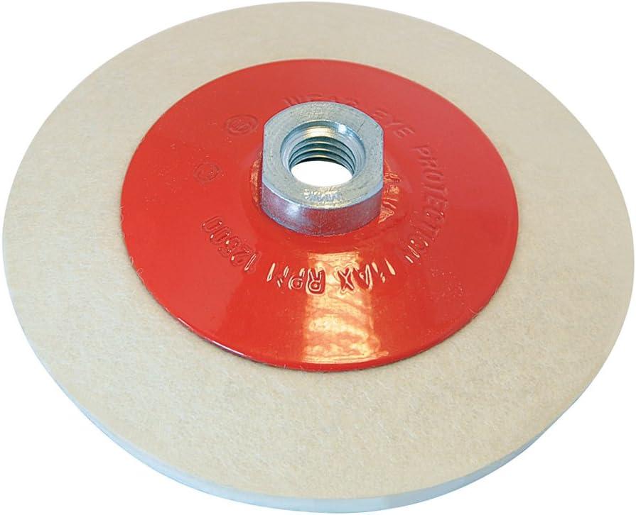 Silverline 105864 - Rueda de fieltro biselada para pulido (115 mm)