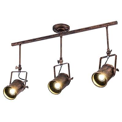 Led Spotlicht Industriel Rétro Vintage Rail Luminaire 3 Flammes