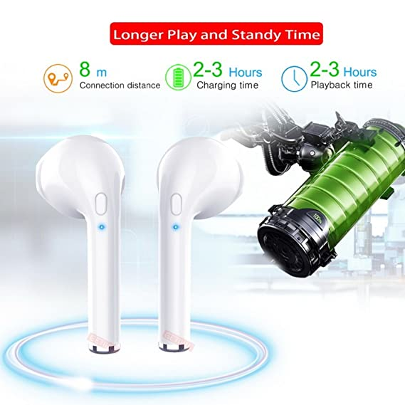 Amazon.com: GETIHU Bluetooth Earbuds, Wireless Headphones Headsets Stereo In-Ear Earpieces for Apple Samsung and more. (Black/China): Electronics