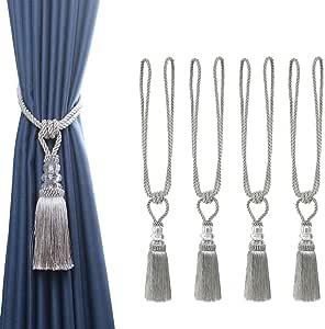 2Pair 40mm//50mm Big Round Crystal Tie Back Hooks Quality Designer Fabric Curtain