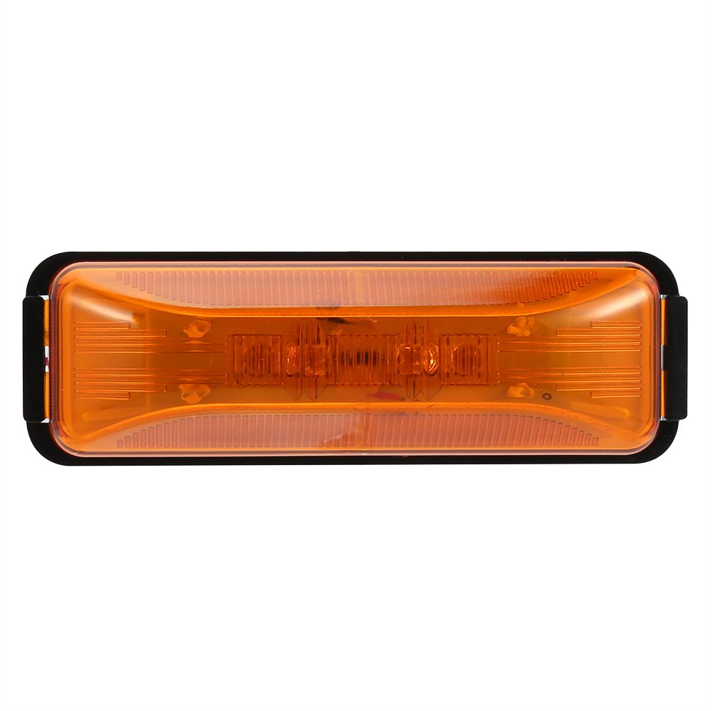 Ocamo 4LED 12V Clearance Side Marker Light Red/Amber Trailer LED Assembly Car Accessories Decoration W Base DOT