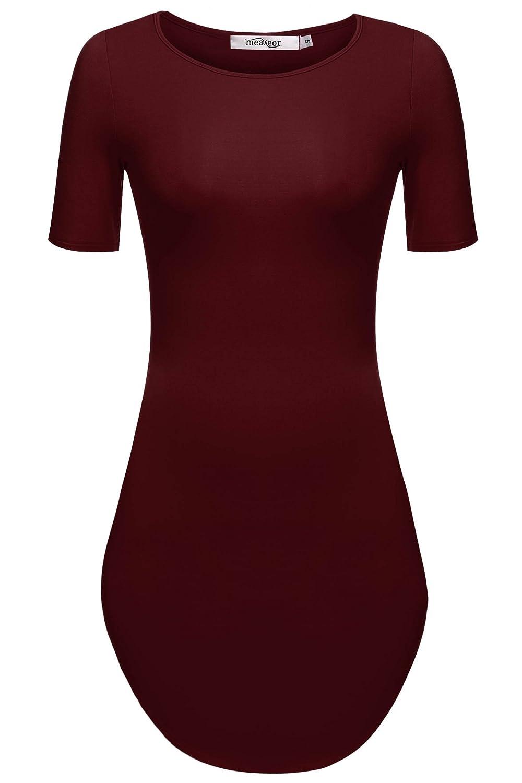 CRAVOG Damen Bodycon Minikleid Kleid Party Strand Kleid Sommer Casual