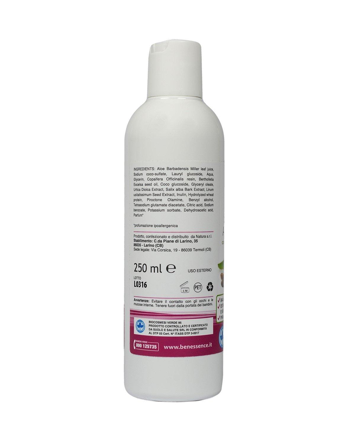 CHAMPÚ ANTICASPA - CON ALOE VERA ORGANICA 250 ml
