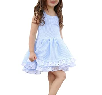 Toddler Kids Girls Party Dresses, BURFLY ❤ Summer Stripe Lace Princess Pageant Dresses for