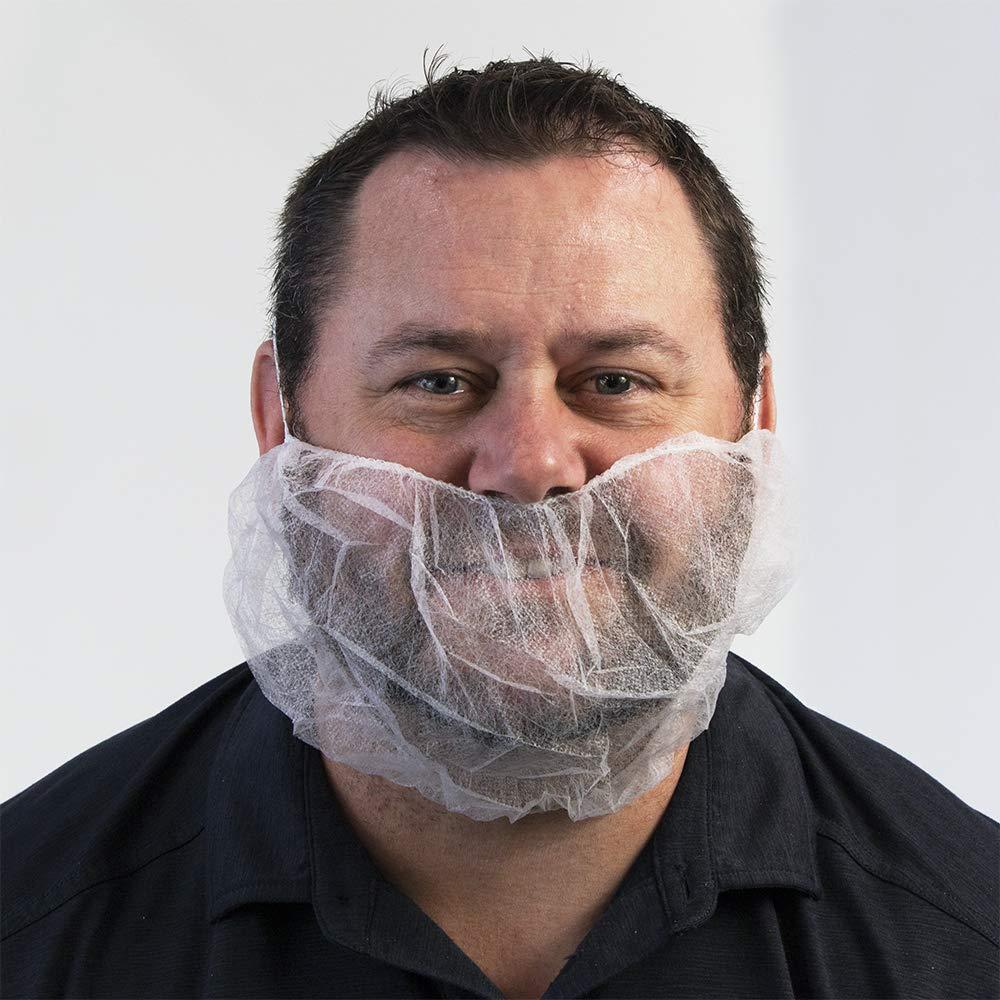 UltraSource 444040 Beard Nets, Latex Free Polypropylene, Bouffant, 18
