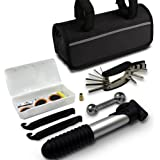 GoTravel2 Mini bike repair tool kit with pump - Mini bicycle repair tool kit with pump,16 in 1 Bicycle Essential Multi tools Set
