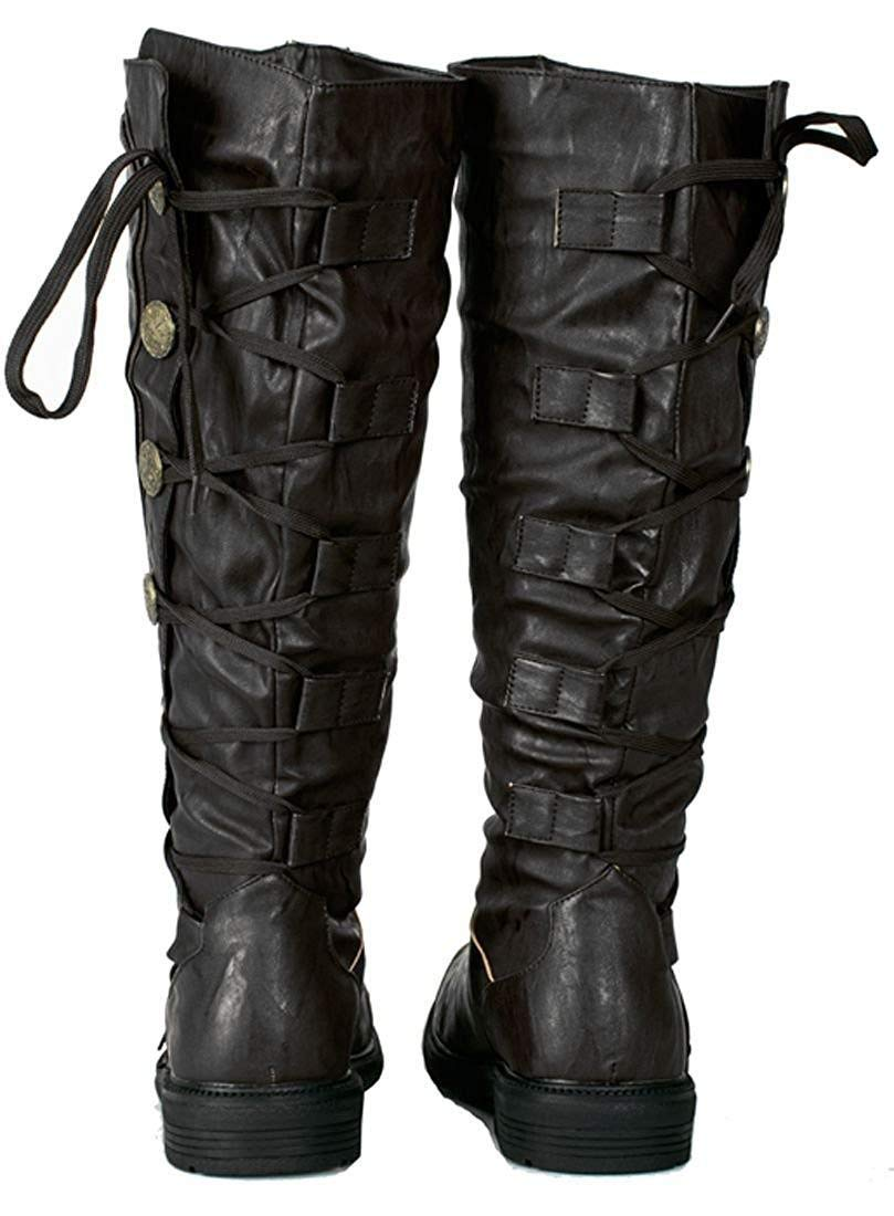 Military Steampunk Western Vintage Style Halloween Costume Adult Mens Boots 5