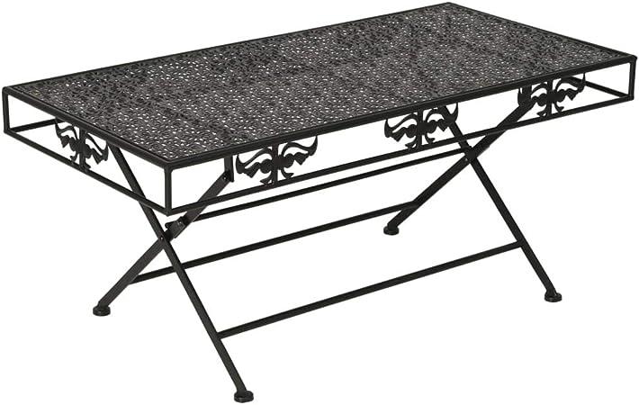d'Appoint Pliante Salon Table Métal Basse Table Bout vidaXL OuTwkXlPZi